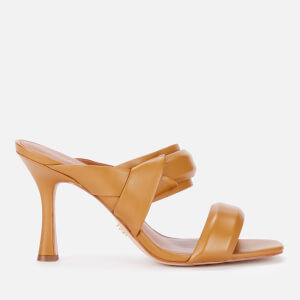 Kurt Geiger London Women's Brandy Leather Heeled Mules - Mustard