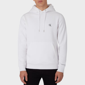 CK Jeans Men's Essential Regular Hoodie - Bright White