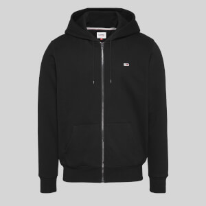 Tommy Jeans Men's Regular Fleece Zip Hoodie - Black