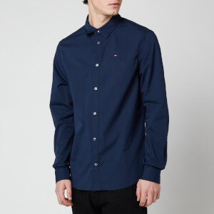 Tommy Jeans Men's Original Stretch Long Sleeve Shirt - Black Iris