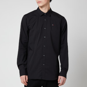 Tommy Jeans Men's Original Stretch Long Sleeve Shirt - Tommy Black