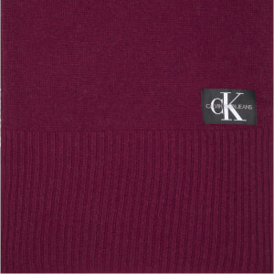CK Jeans Men's J Basic Knitted Scarf - Tawny Port