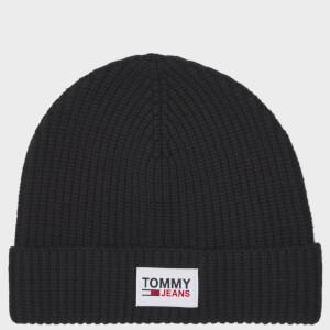 Tommy Jeans Men's Patch Beanie - Black