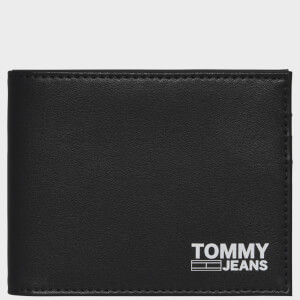 Tommy Jeans Men's Recycled Leather Mini Card Wallet - Black