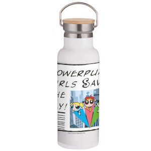 Powerpuff Girls Save The Day Portable Insulated Water Bottle - White