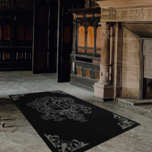 Exclusive DC Batman Wayne Manor Large Printed Area Rug 8x 5ft