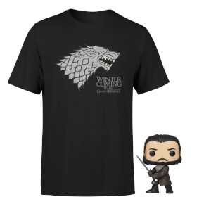 Lot Winter is Coming T-shirt et Funko Pop - Game of Thrones