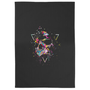 Shattered Skull Cotton Tea Towel - Black