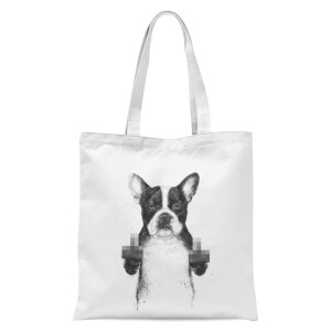 Censored Dog Tote Bag - White