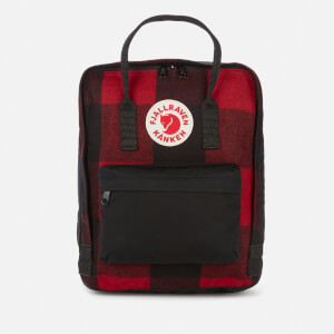 Fjallraven Women's Kanken Re-Wool Backpack - Red/Black
