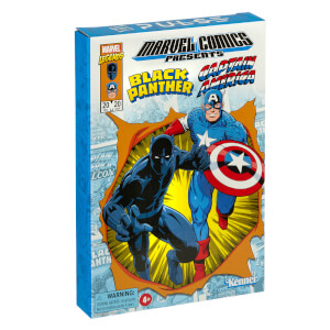Hasbro Marvel Legends RETRO 3.75-inch Collection Captain America & Black Panther 2-Pack Action Figure