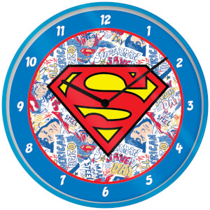 Superman Logo Clock 10 Inch