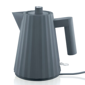 Alessi Electric Kettle - Plisse Grey - 1.7L