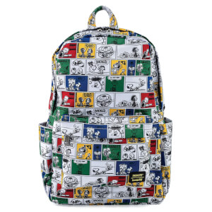 Loungefly Peanuts Comic Strip Aop Nylon Backpack