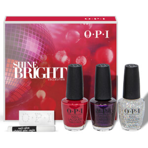 OPI Shine Bright Collection Nail Polish Gift Set with Swarovski Crystals 3 x 15ml