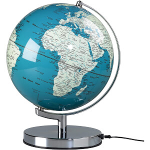 French Blue Globe Light - 10 Inch
