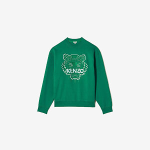 KENZO Men's Bicolor Tiger Icon Sweatshirt - Grass Green