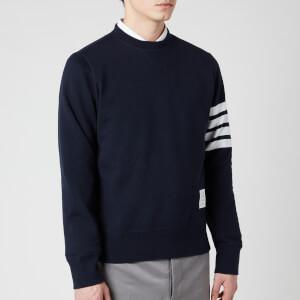 Thom Browne Men's Engineered 4-Bar Stripe Loopback Sweatshirt - Navy