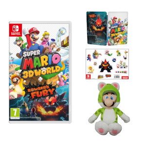 Super Mario 3D World + Bowser's Fury + Cat Luigi Soft Toy