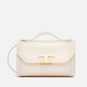 Tod's Women's Micro T Leather Shoulder Bag - White