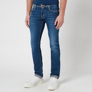 Jacob Cohen Men's J622 Brown Badge Limited Edition Jeans - Blue
