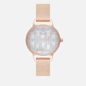 Olivia Burton Women's Ice Queen Snow Globe Watch - Rose Gold