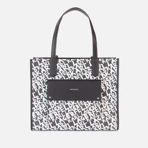 Karl Lagerfeld Women's K/Ikon Graffiti Tote Bag - Black/White