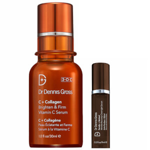 Dr Dennis Gross C+Collegen Bundle and Free Ferulic and Retinol Wrinkle Recovery Overnight DLX Serum 9ml