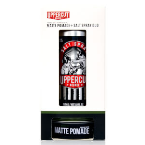 Uppercut Deluxe Matte Pomade and Salt Spray Duo