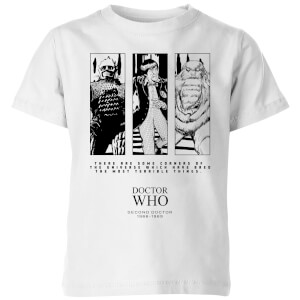 Doctor Who Second Doctor Kids' T-Shirt - White