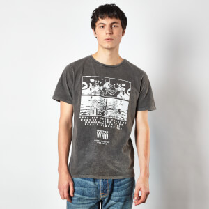 Doctor Who First Doctor Unisex T-Shirt - Black Acid Wash