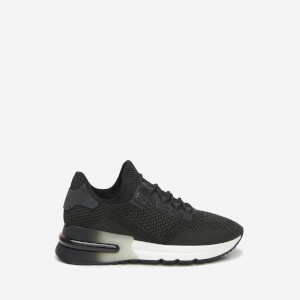 Ash Women's Krush Bis-Knit Lycra Trainers - Black/Gun