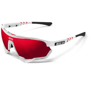 Scicon Aerotech XL UAE Team Emirates 2020 Edition Sunglasses - White Gloss/SCNPP Multilaser Red