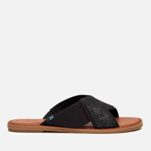TOMS Women's Viviana Flat Sandals - Black