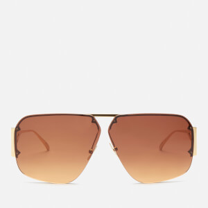 Bottega Veneta Women's Aviator Sunglasses - Gold/Orange