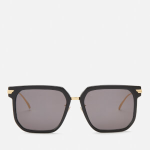 Gucci Women's Round Acetate Sunglasses - Black/Grey