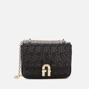 Furla Women's Cosy Mini Quilted Shoulder Bag - Black