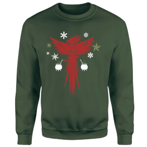 Harry Potter Fawkes Sweatshirt - Forest Green