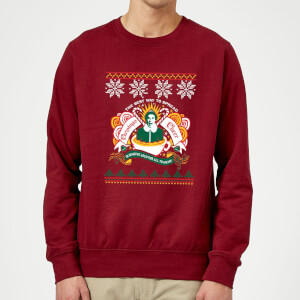 Elf Christmas Cheer Sweatshirt - Burgundy