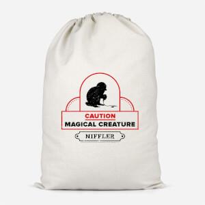 Caution Magical Creature Cotton Storage Bag