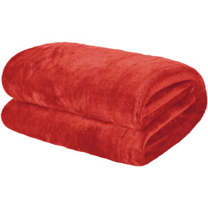 Extra Soft Plush Throw - Coral