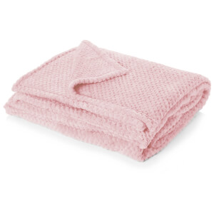 Textured Waffle Throw - Blush Pink from I Want One Of Those