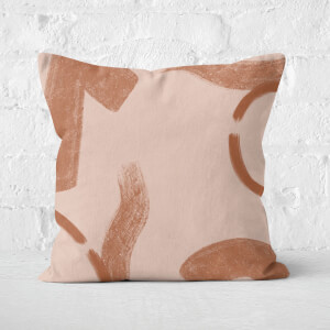 Yasmin Fatollahy Abstract Shapes And Strokes Square Cushion