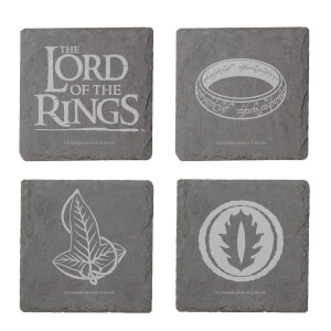 Lord Of The Rings Engraved Slate Coaster Set