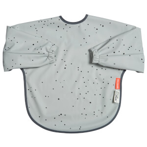 Done by Deer Sleeved Bib - Dreamy Dots - 18m+ - Grey