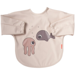 Done by Deer Sleeved Bib - Sea Friends - 6-18m - Powder