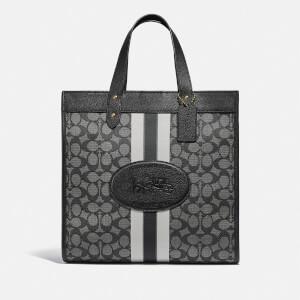 Coach New York Women's Signature Jacquard Field Exclusive Tote Bag - Graphite Black