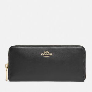 Coach New York Women's Slim Accordion Zip Wallet - Black