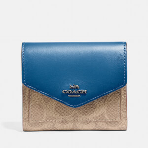 Coach Women's Colorblock Signature Small Wallet - Tan/Denim