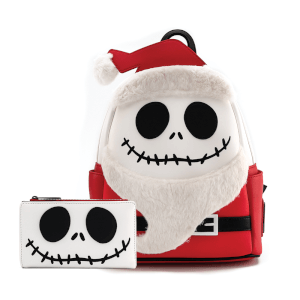 Loungefly Disney The Nightmare Before Christmas Christmas Jack Cosplay Mini Backpack and Wallet Set